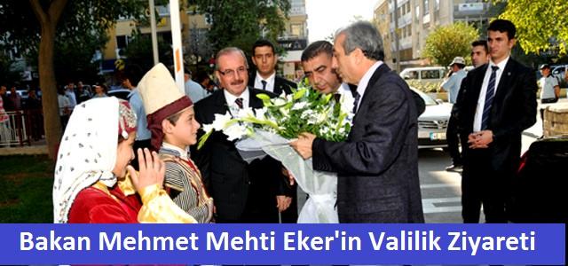 Bakan Mehmet Mehdi Eker Vali Kocatepe'yi ziyaret etti