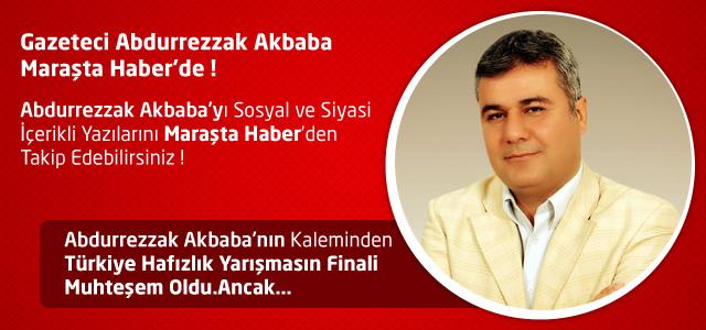 Türkiye Hafızlık Yarışmasın Finali Muhteşem Oldu.Ancak… – Abdurrezzak Akbaba