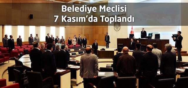 Belediye Meclisi 7 Kasım'da Toplandı