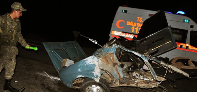 Afşin'de Kaza.1 Ölü 3 Yaralı.