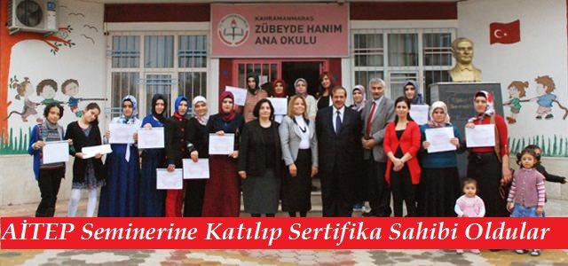 AİTEP Seminerine Katılıp Sertifikalarını Aldılar