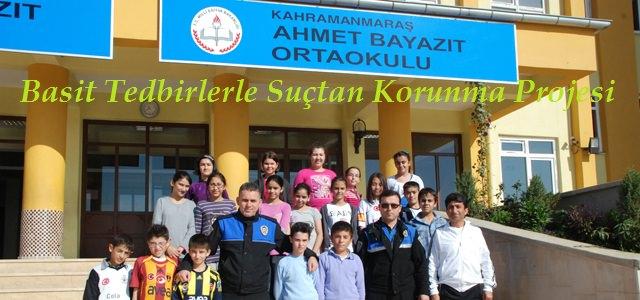 """Ahmet Beyazıt 7. Sınıf öğrencilerine """"Basit Tedbirlerle Suçtan Koruma Projesi"""""""