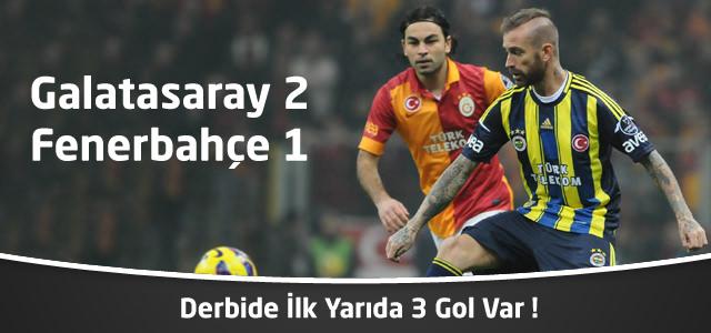 Galatasaray 2 – Fenerbahçe 1 | İlk Yarı Sonucu – Spor Toto Süper Lig 16. Hafta