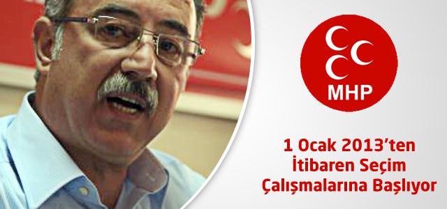 """MHP İl Başkanı Bastırmacı : """"1 Ocak'tan itibaren seçim çalışmalara başlıyoruz"""""""