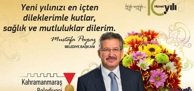 Belediye Başkanı Mustafa  Poyraz'ın Yeni Yıl Mesajı