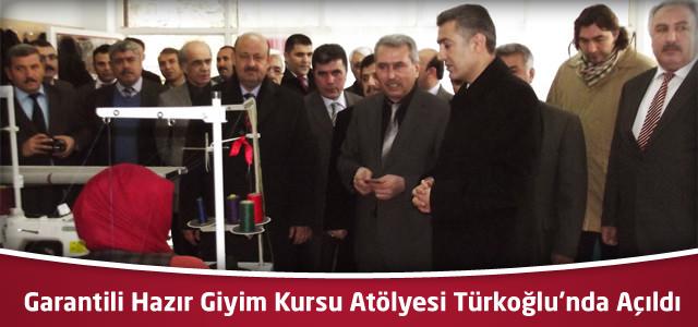 Türkoğlu'nda Garantili Hazır Giyim Kursu Atölyesi Açıldı