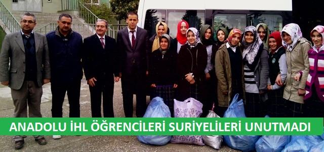 Anadolu İHL öğrencilerinden Suriyeli kardeşlerimize yardım eli
