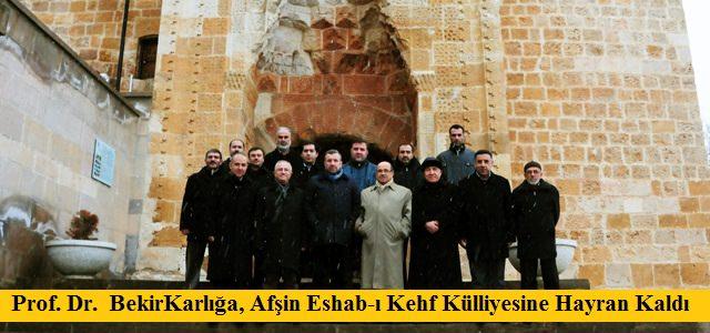 Prof. Dr. Karlığa, Eshab-I Kehf'e Hayran Kaldı