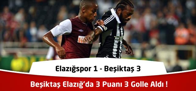 Süper Lig 21. Hafta : Elazığspor 1  – Beşiktaş 3 – Maçın Canlı Özeti