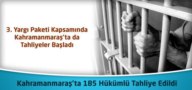 3.Yargı Paketi ile Kahramanmaraş'ta 185 Hükümlü Tahliye Edildi