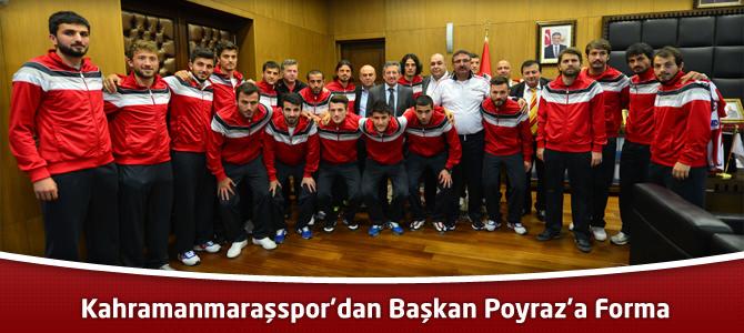 Kahramanmaraşspor'dan Başkan Poyraz'a Forma