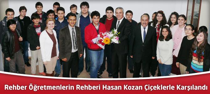 Rehber Öğretmenlerin Rehberi,H.Hasan Kozan Çiçeklerle Karşılandı