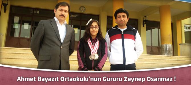 Ahmet Bayazıt Ortaokul Öğrencisi Zeynep Osanmaz'ın Başarısı