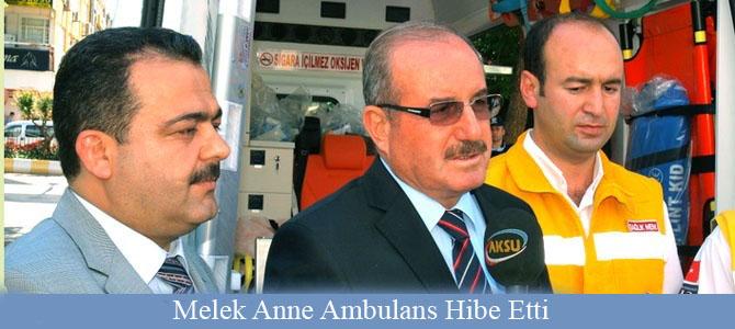 Melek Anne Ambulans Hibe Etti