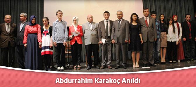 Abdurrahim Karakoç anıldı