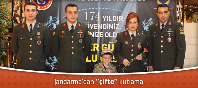 "Jandarma'dan, Kahramanmaraş Piazza AVM'de ""çifte"" kutlama"