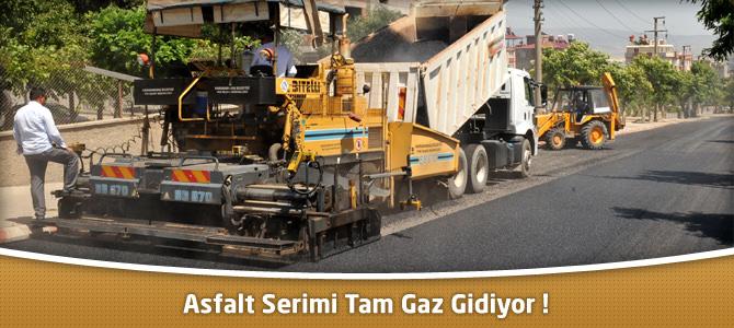 Kahramanmaraş Belediyesi Asfalt Seriminde Tam Gaz Gidiyor !