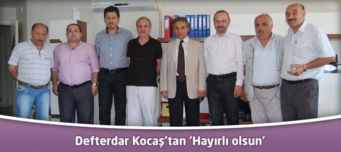 Defterdar Kocaş'tan Kahramanmaraş Gazeteciler Cemiyeti Derneği'ne 'Hayırlı olsun'