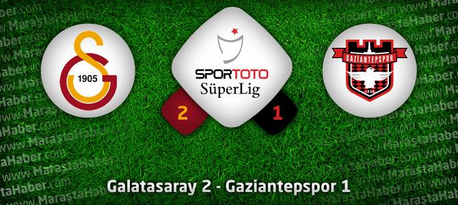 Galatasaray Gaziantepspor maç özeti ve golleri: 2-1