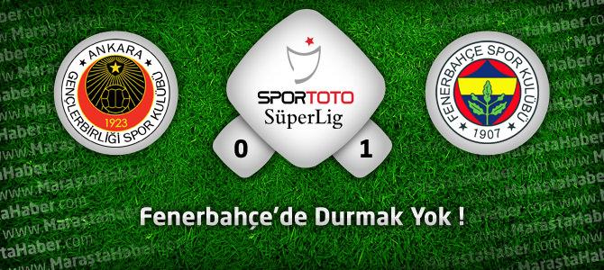 Gençlerbirliği 0 – Fenerbahçe 1 geniş maç özeti ve goller