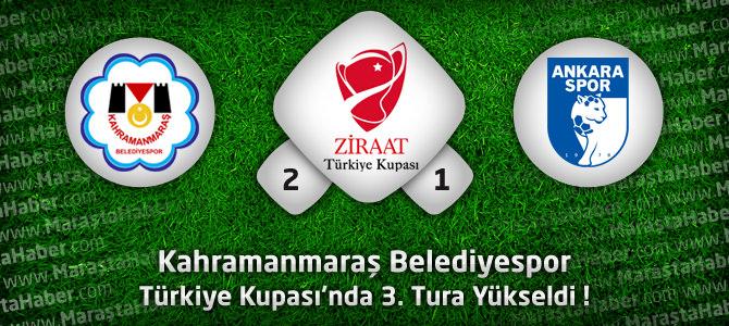 Kahramanmaraş Belediyespor 2 – Ankaraspor 1 Türkiye Kupası Geniş maç özeti ve golleri