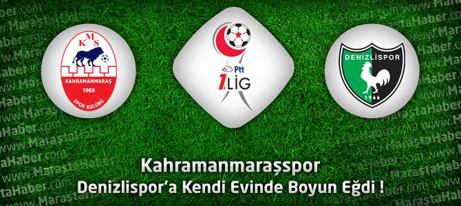 Kahramanmaraşspor 0 – Denizlispor 2 Maçın özeti ve golleri