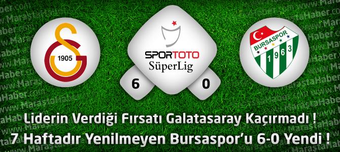 Galatasaray 6 – Bursaspor 0 Geniş maç özeti ve maçın golleri özet