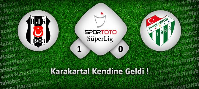 Beşiktaş 1 – Bursaspor 0 maç özeti ve golleri