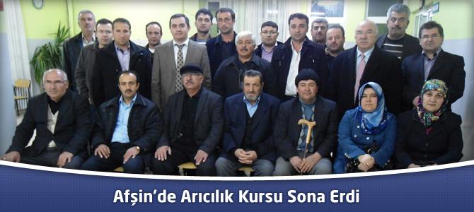 Afşin'de Arıcılık Kursu Sona Erdi