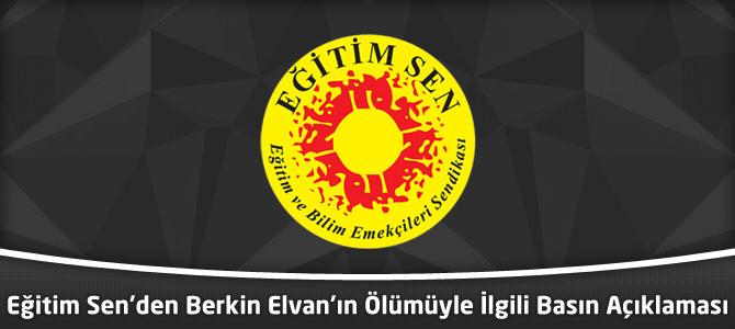 Eğitim Sen'den Berkin Elvan'ın Ölümüyle İlgili Basın Açıklaması