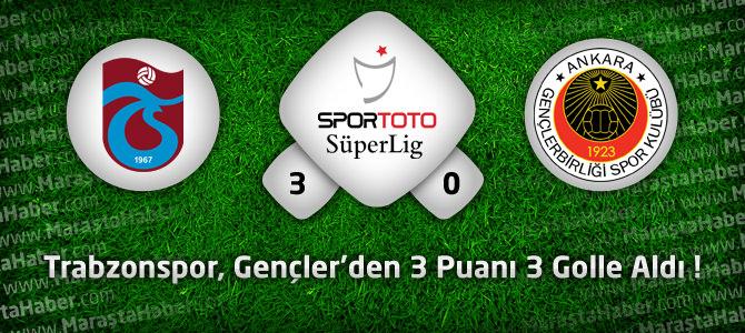 Trabzonspor 3 – Gençlerbirliği 0 Maç özeti ve goller