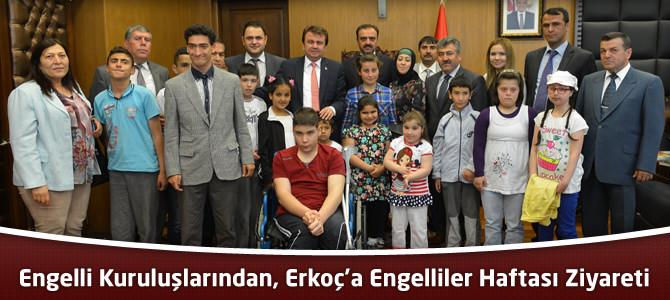 Engelli Kuruluşlarından, Başkan Erkoç'a Engelliler Haftası Ziyareti
