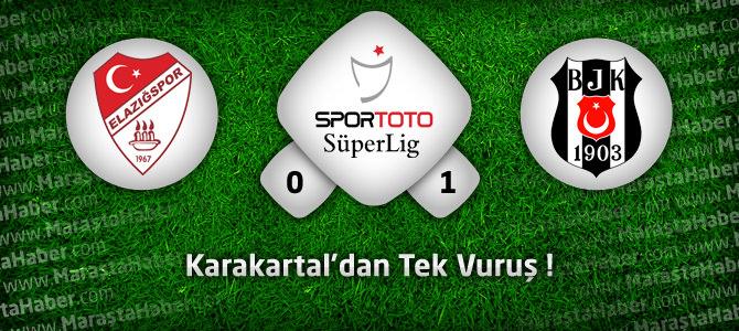 Elazığspor 0 – Beşiktaş 1 Maçın geniş özeti ve golleri