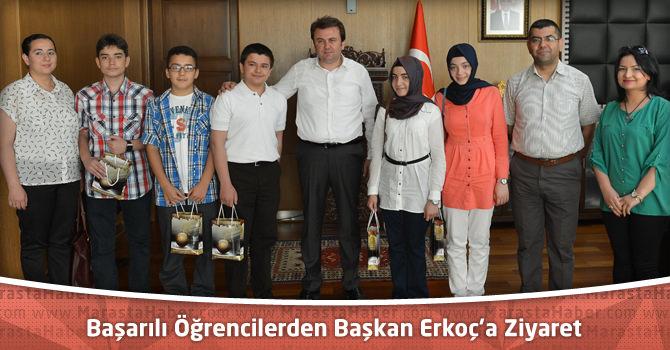 Başarılı Öğrencilerden Başkan Erkoç'a Ziyaret