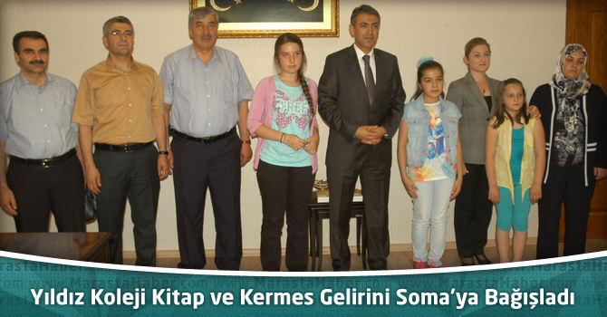 Yıldız Koleji Kitap ve Kermes Gelirini Soma'ya Bağışladı