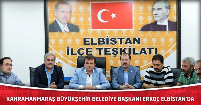 Kahramanmaraş Büyükşehir Belediye Başkanı Erkoç Elbistan'da