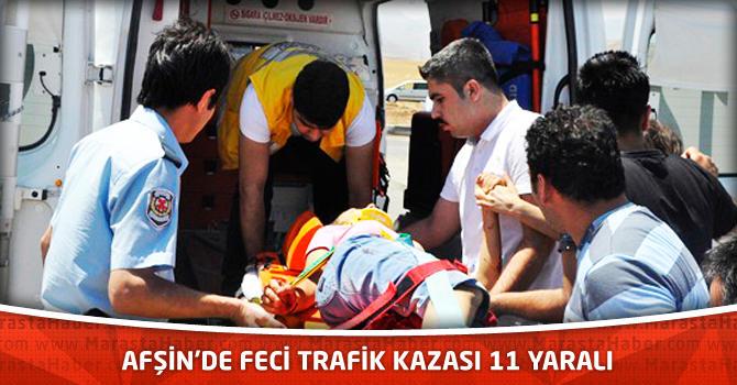 Afşin'de Feci Trafik Kazası 11 Yaralı