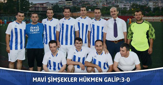 Mavi Şimşekler Hükmen Galip:3-0