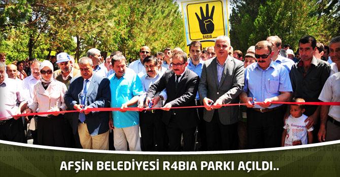 Afşin Belediyesi R4BİA Parkı Açıldı..