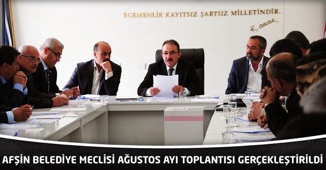 Afşin Belediye Meclisi Ağustos Ayı Toplantısı Gerçekleştirildi.