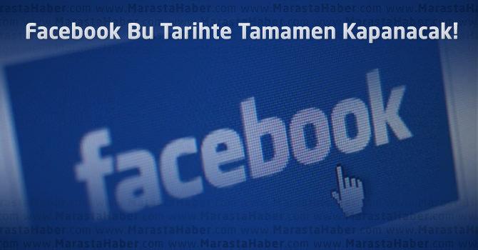 Facebook Kapanıyor mu ? Kapanacağı tarihi belli oldu !