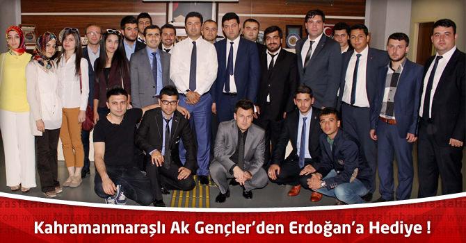 Onikişubat Ak Parti Gençlik Kolları'ndan Erdoğan'a Hediye