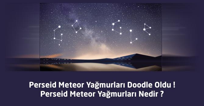 Perseid Meteor Yağmurları Doodle Oldu ! Perseid Meteor Yağmurları Nedir ?