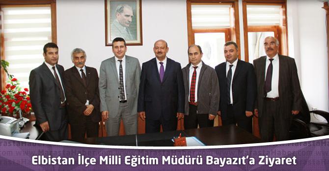 Eğitimcilerden Elbistan İlçe Milli Eğitim Müdürü Bayazıt'a ziyaret