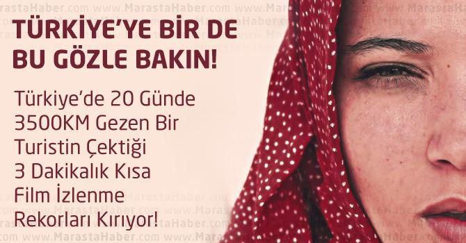 Türkiye'de 20 Günde 3500KM Gezen BirTuristin Çektiği 3 Dakikalık Kısa Film İzlenme Rekorları Kırıyor!