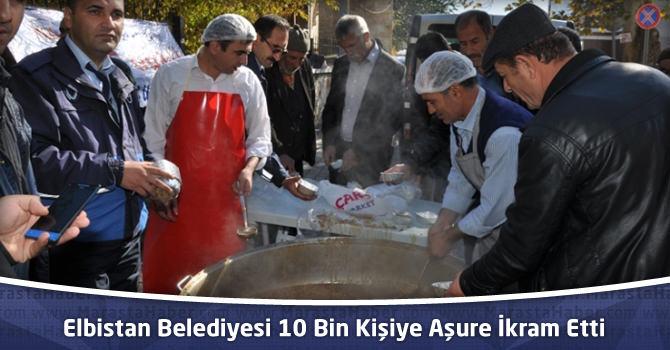 Elbistan Belediyesi 10 Bin Kişiye Aşure İkram Etti