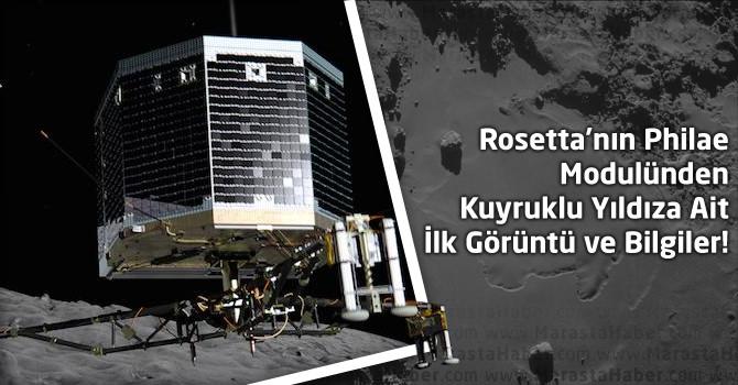 Rosetta'nın Philae Modülünden Kuyruklu Yıldıza Ait İlk Görüntüler ve Bilgiler !