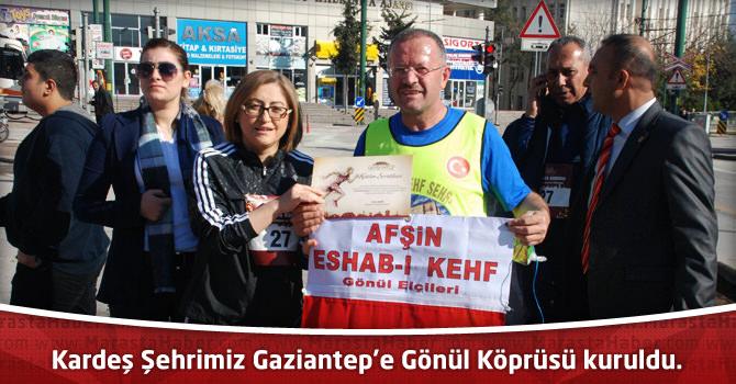 Kardeş Şehrimiz Gaziantep'e Gönül Köprüsü kuruldu.