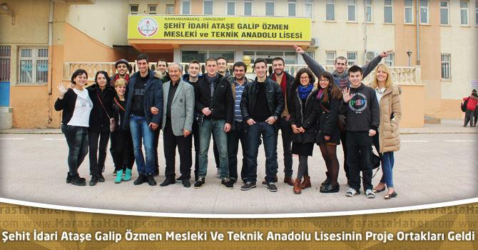 Şehit İdari Ataşe Galip Özmen Mesleki Ve Teknik Anadolu Lisesinin Proje Ortakları Geldi
