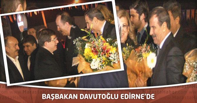Başbakan Davutoğlu Edirne'de